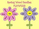 Spring Word Families FLOWERS