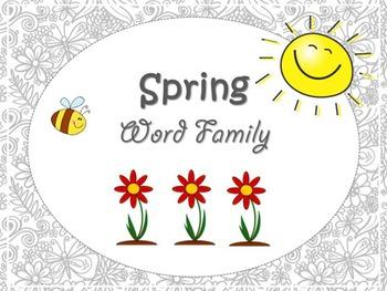 Spring Word Families - Printables – Spring Theme