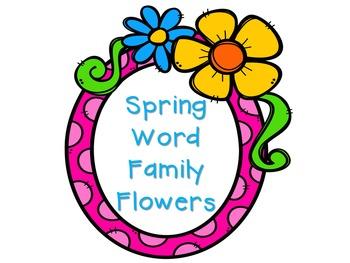 Spring Word Family Flowers Center