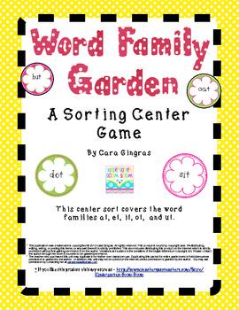 Spring Word Family Garden Center Game
