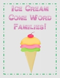 Spring Word Family Ice Cream Cones