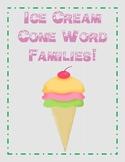 Spring Word Family Ice Cream Cones