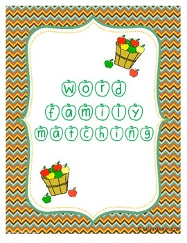 Word Family Matching - Spring