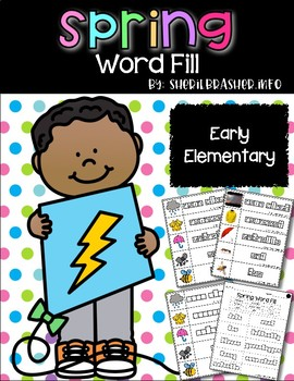 Spring Word Fill | Vocabulary Words | Writing Center | Word Wall