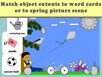 Spring Language and Vocabulary File Folder