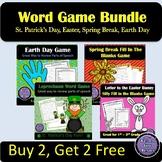 Spring Word Games Bundle   Buy 2, Get 2 Free