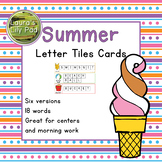 Summer Word Letter Tiles Cards