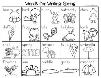 Spring Word List - Writing Center