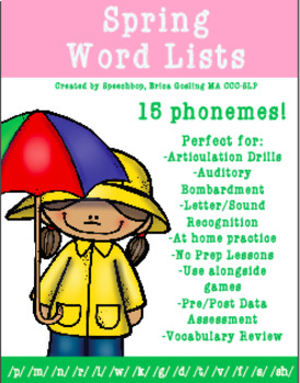 Spring Word Lists