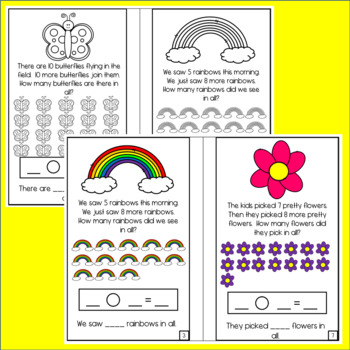 Spring Word Problem Books: Addition within 10 and within 20
