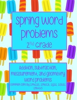 Spring Word Problems- 2nd Grade
