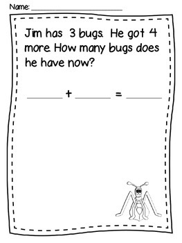 Spring Word Problems {Addition & Subtraction}