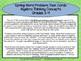 Spring Differentiated Word Problem Task Cards Algebraic Thinking