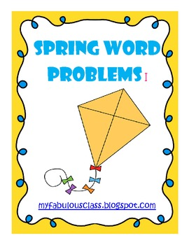 Spring Word Problems - Combos of 10