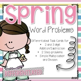 Spring Word Problems Differentiated Addition Subtraction M