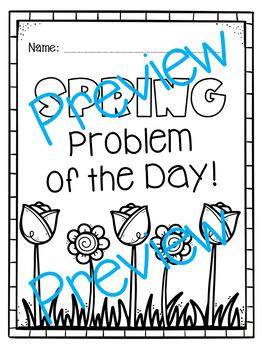 Spring Word Problems & Interactive Notebook FREEBIE!