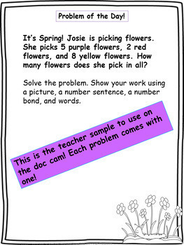 Spring Word Problems & Math Interactive Notebook Activities Pack!