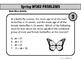Spring Word Problems - Math Mixer Activity - High School