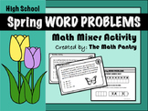 Spring Word Problems - Math Mixer Activity - High School