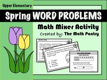 Spring Word Problems - Math Mixer Activity - Upper Elementary