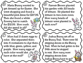 Spring Word Problems (Second and Third)