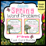 Spring Word Problems Bundle for 3rd Grade - 3.OA.3 and 3.O