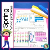Spring Addition and Subtraction Word Problems for First Grade