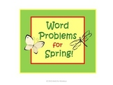 Spring Word Problems with Addition and Subtraction Task Cards