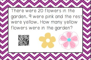 Spring Word Problems with QR Codes