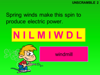 Spring Word Puzzles PowerPoint