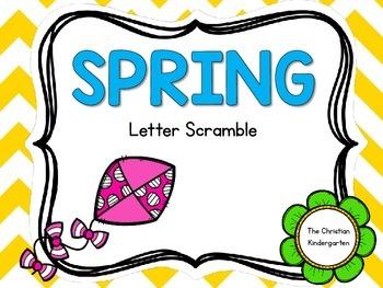 Spring Word Scramble-FREEBIE
