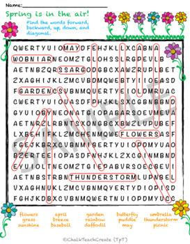Spring Word Scramble & Word Search! (Bundle)