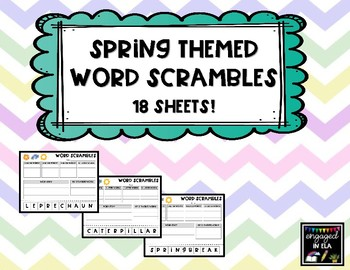 Spring Word Scrambles - 18 sheets!