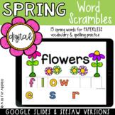 Spring Word Scrambles DIGITAL