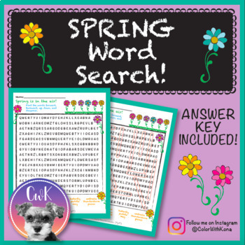 Spring Word Search!