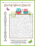 SPRING VOCABULARY Word Search Puzzle Worksheet Activity
