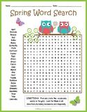 No Prep Spring Worksheet - Spring Word Search FUN