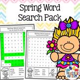 Spring Word Search, No Prep