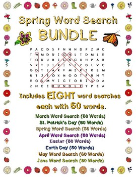 Spring Word Search Bundle