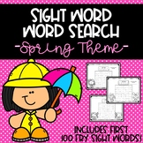 Spring Word Search *FRY SIGHT WORDS 1-100* DISTANCE LEARNI