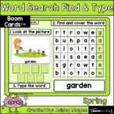 Spring Word Search Find & Type - Boom Cards - Digital Learning