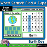 Earth Day Word Search Find & Type - Boom Cards - Digital Learning