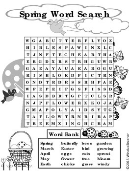 Spring Word Search * Hard