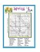 Spring Word Search Puzzle or Wordsearch