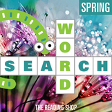 Spring Word Search Puzzle - 3 Levels Differentiated