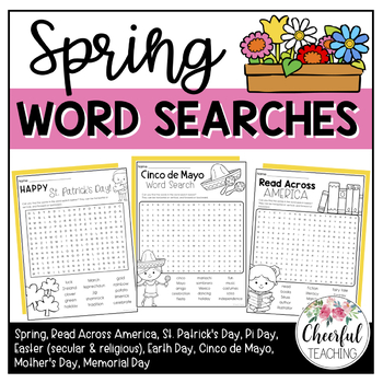 Spring Word Searches