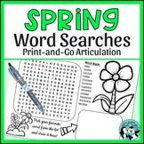 Spring Word Searches & Scrambles for Articulation