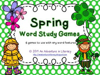 Word Study Games (Any Word Feature) Spring
