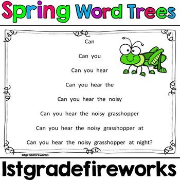 Spring Word Trees...Fluency Practice