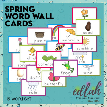 Spring Word Wall Cards (set of 18)